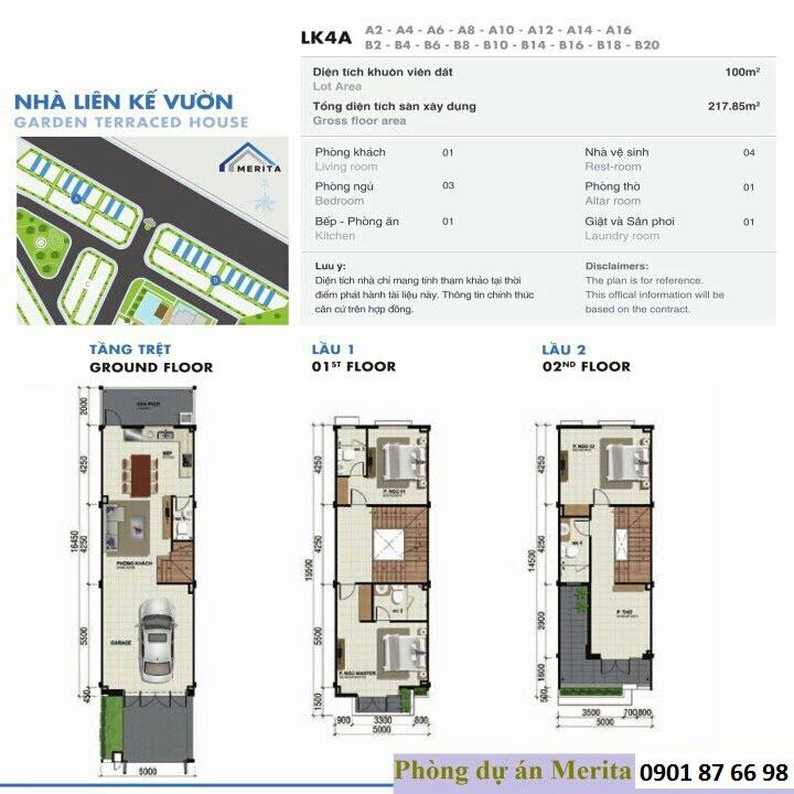 thiết kế nhà phố Merita 5x20