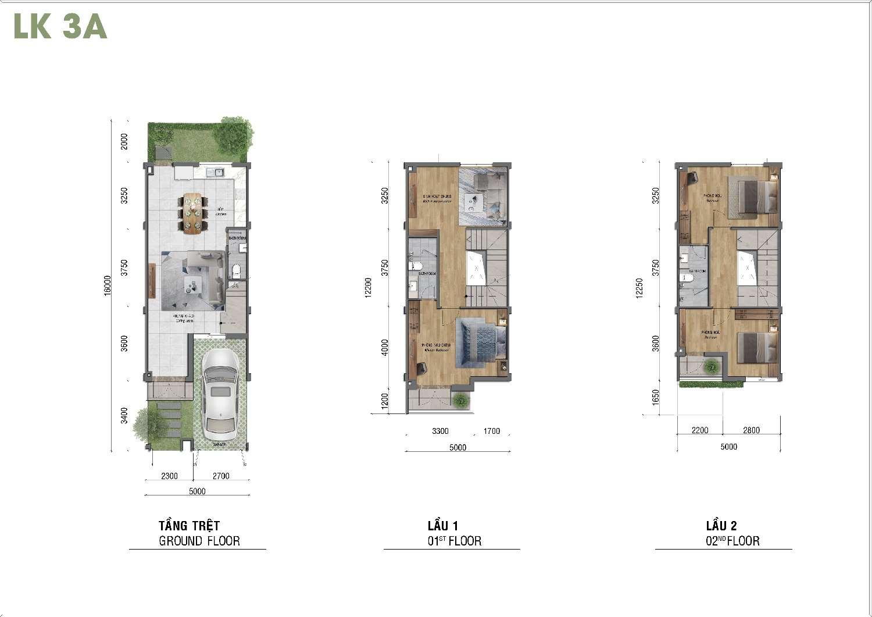 thiết kế nhà phố lovera park khang điền bình chánh