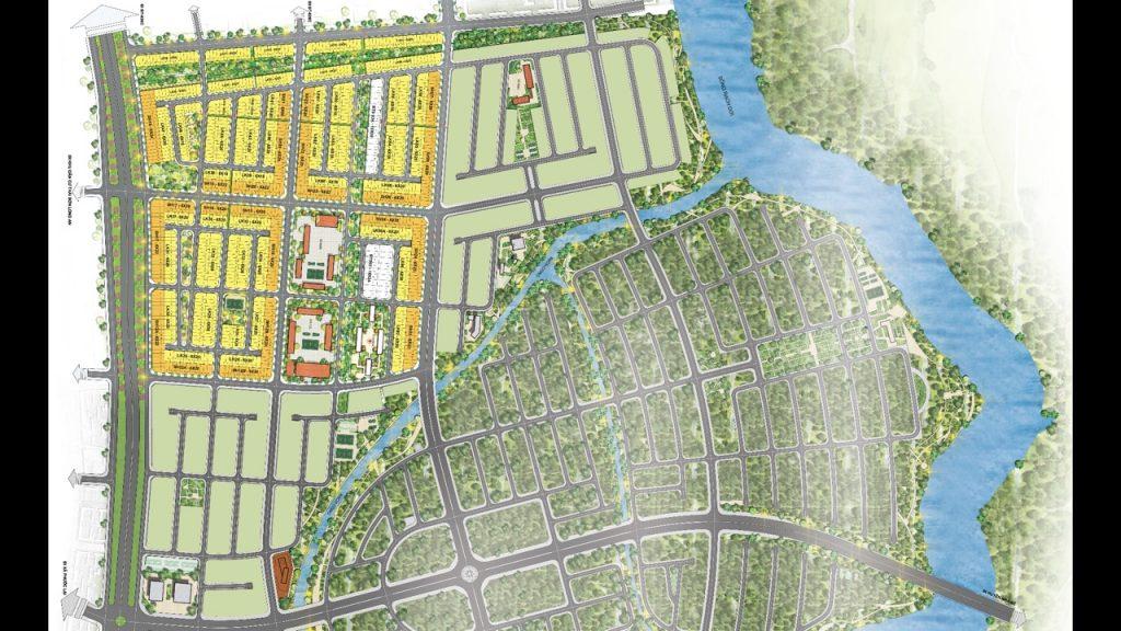 Mặt bằng phân khu 1 dự án đất nền T&T Long Hậu Millennium City