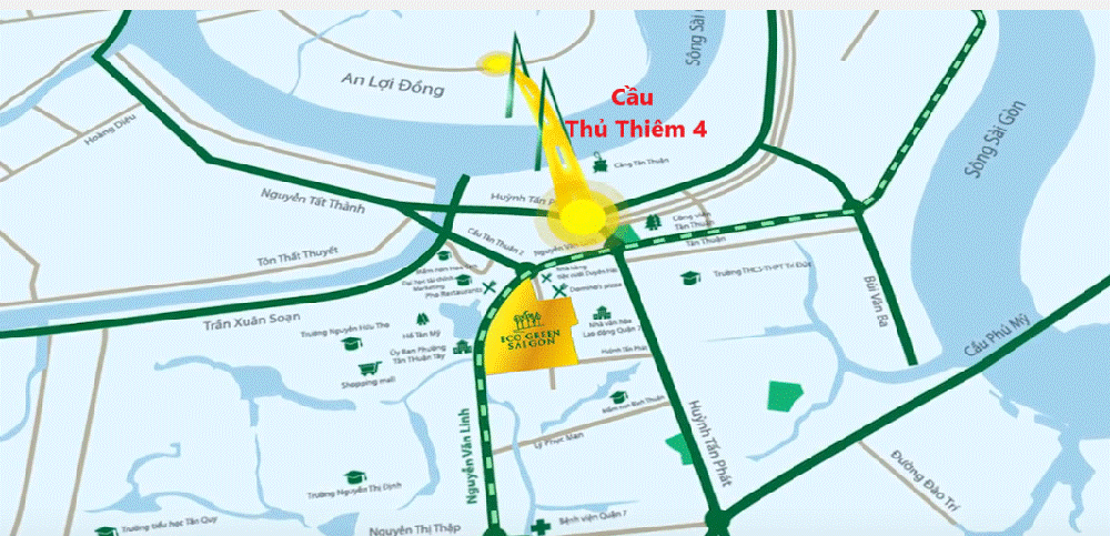 Vị trí cửa ngõ khu Nam tại căn hộ Eco Green Saigon Xuân Mai