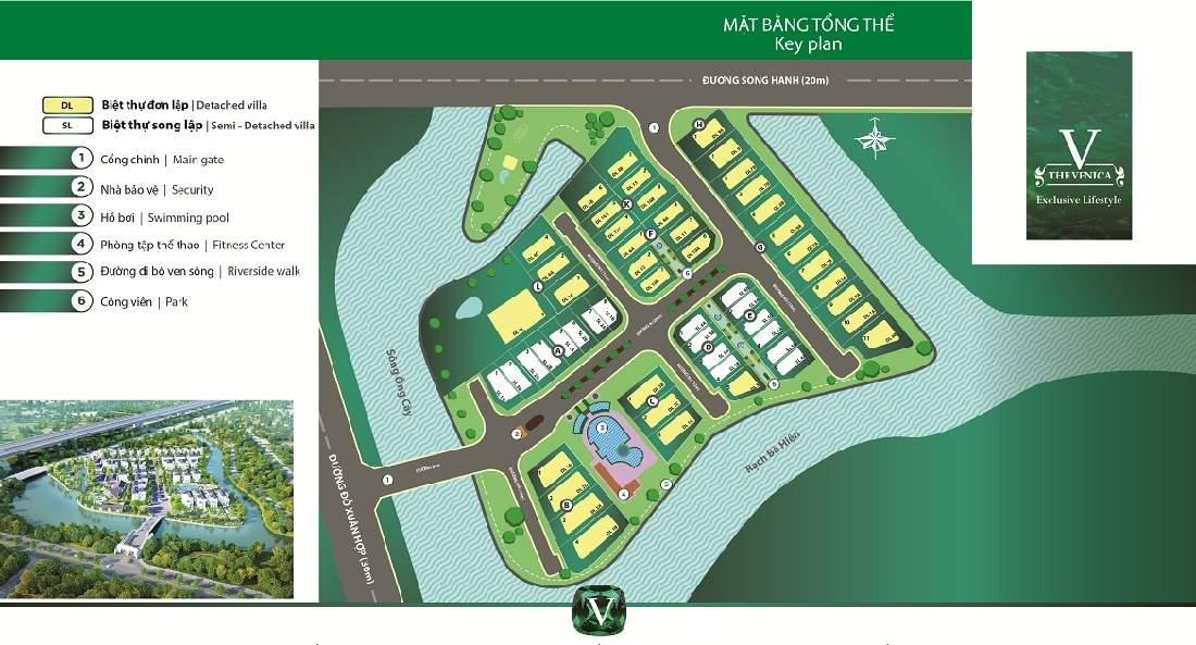 Mặt bằng tổng khu dự án Biệt Thự Khang Điền Quận 9