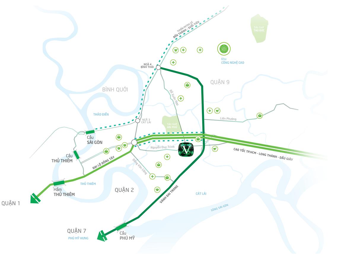 Vị trí dự án Biệt thự đẳng cấp The Venica Khang Điền Quận 9