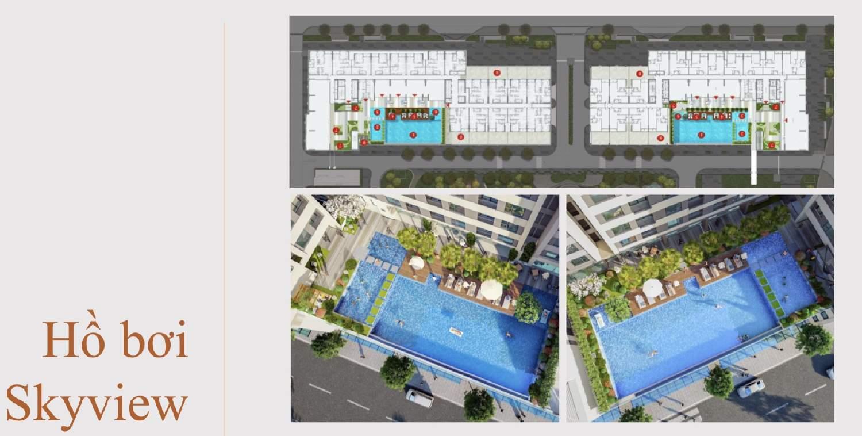 hồ bơi căn hộ aio city
