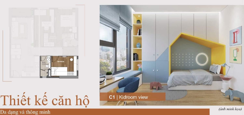 Phòng ngủ cho trẻ em Căn hộ Aio City