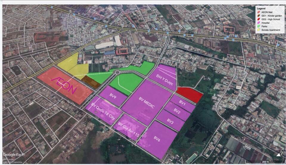 Tổng khu y tế kỹ thật cao Hoa Lâm Bình Tân rộng 37,5 Ha
