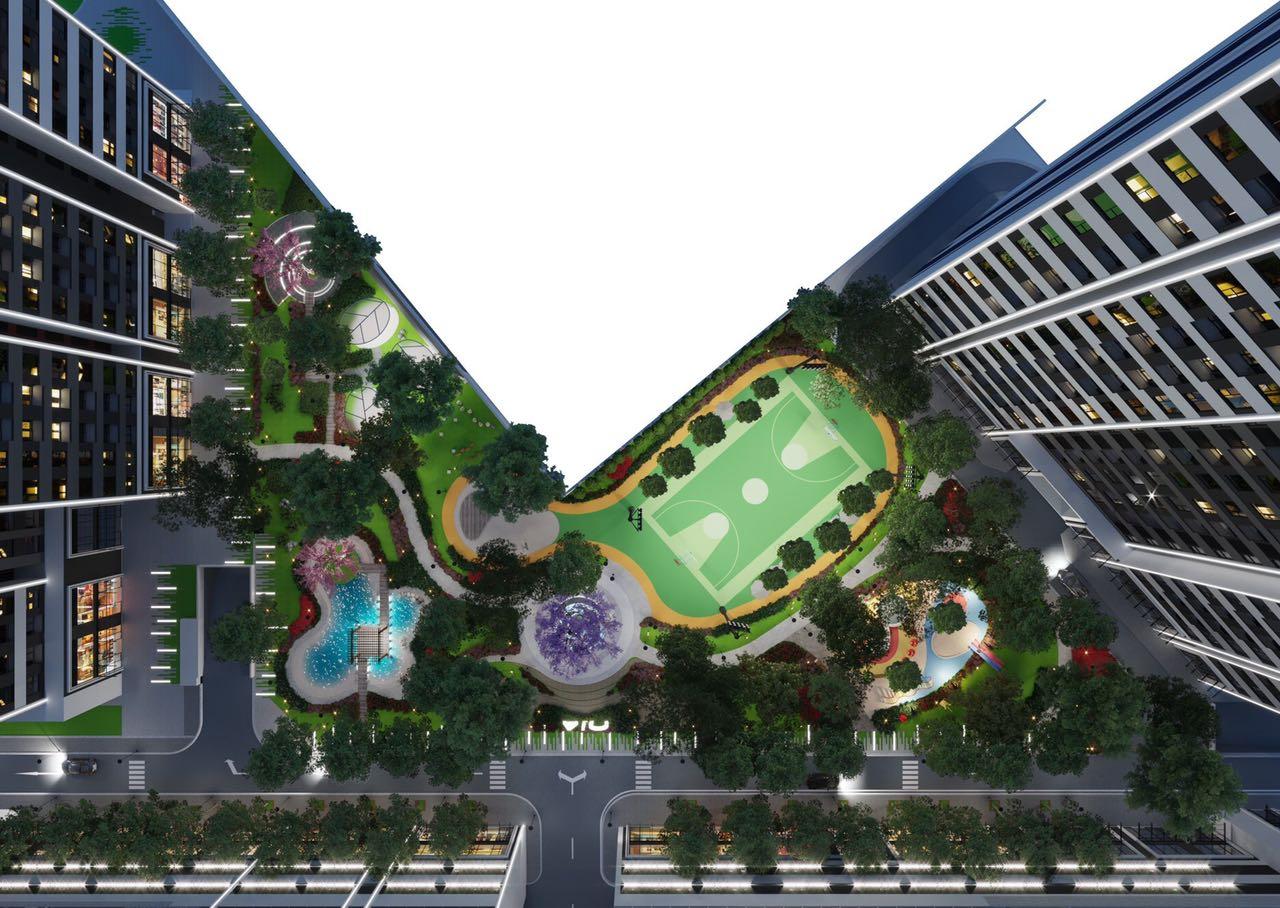 Công viên trung tâm Aio city Hoa Lâm Bình Tân