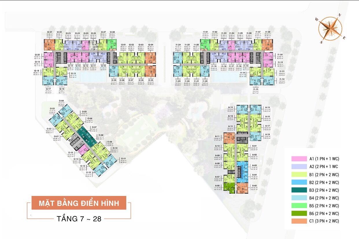 Mặt bằng tổng thể dự án aio city Bình Tân