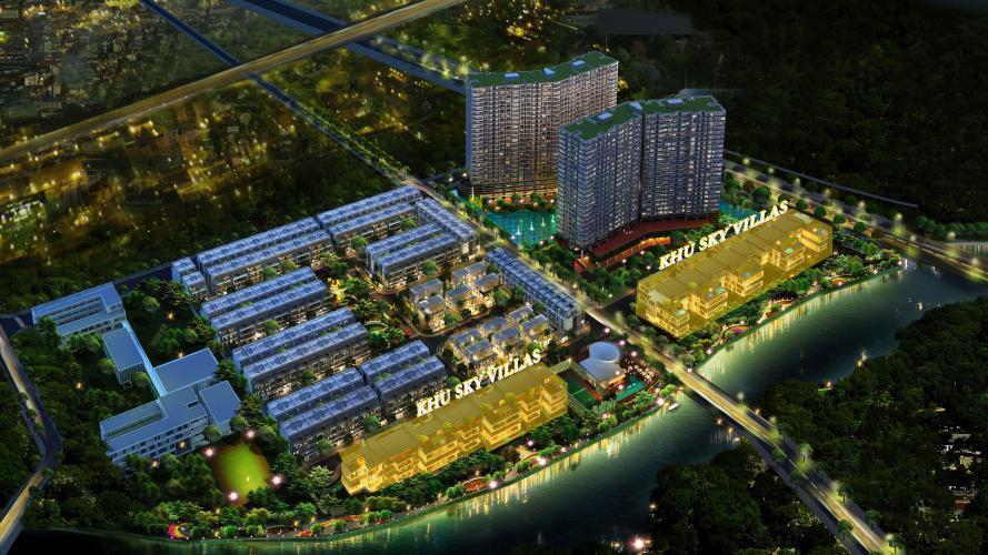Tổng thể dự án Panorama River Villa từ trên cao