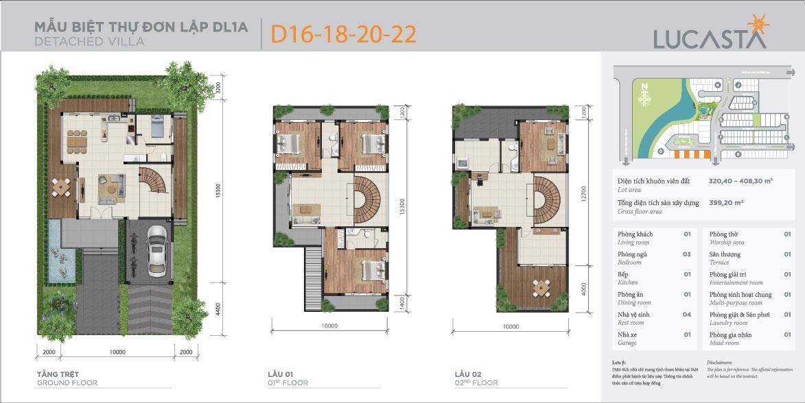 mẫu thiết kế đơn lập biệt thự Lucasta Villa
