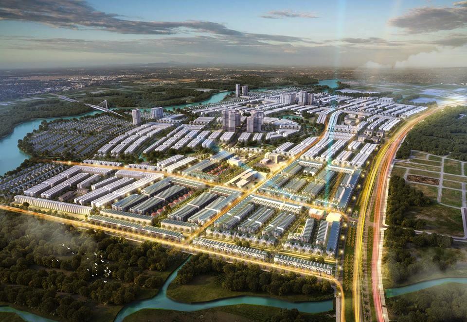 Phối cảnh tổng thể dự án T&T Long Hậu Millennia City