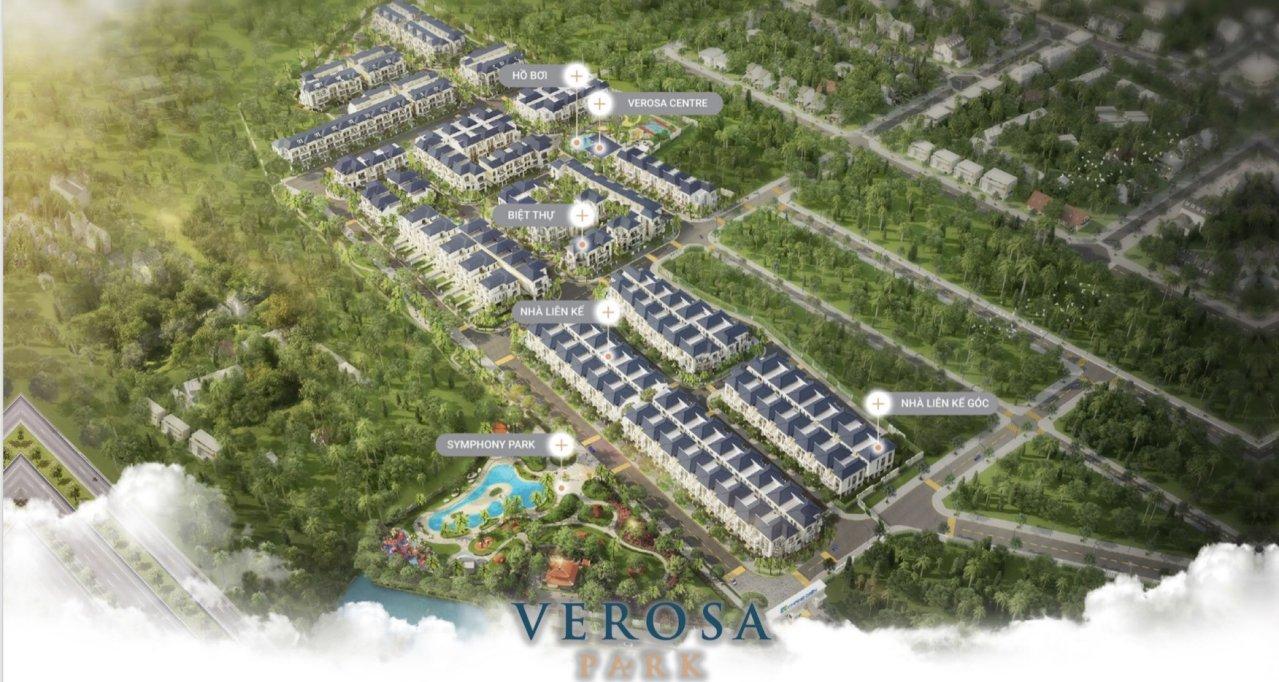 Phối cảnh tông thể dự án nhà phố biệt thự Verosa Khang Điền Quận 9.