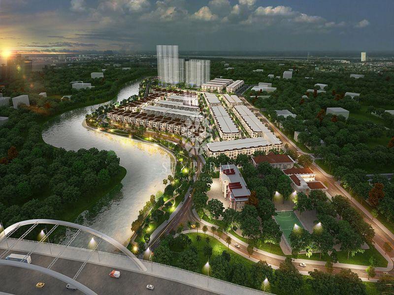 Tổng thể mặt bằng Dự án biệt thự nhà phố Senturia Nam Sài Gòn CĐT Tiến Phước.