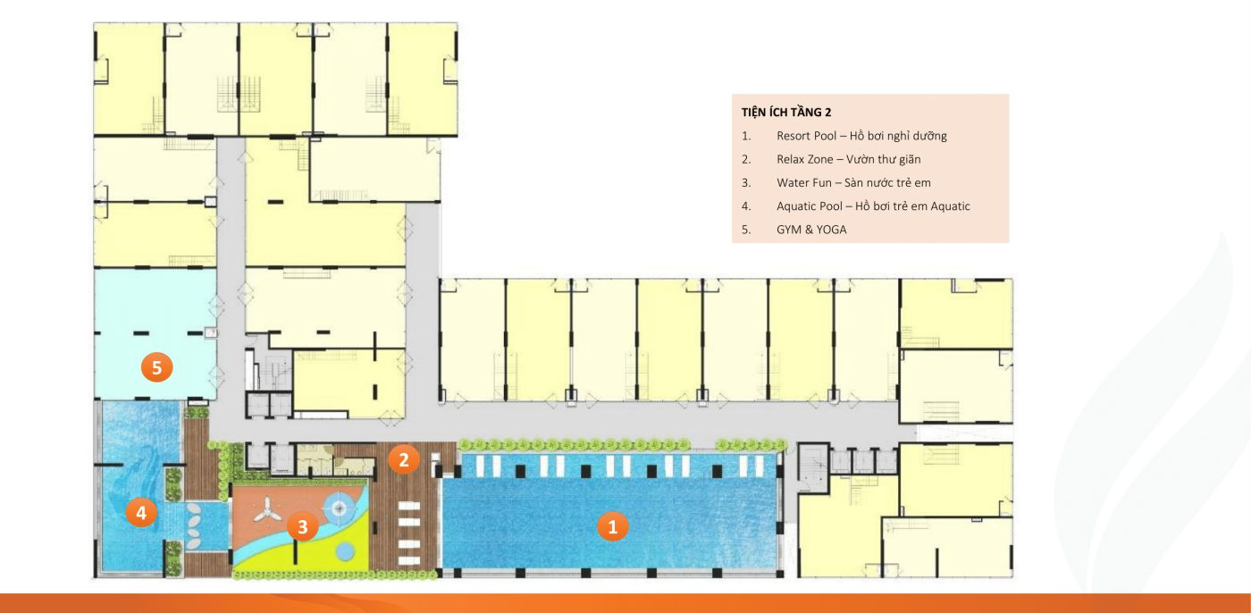 Mặt bằng tầng 2 chung cư Ricca