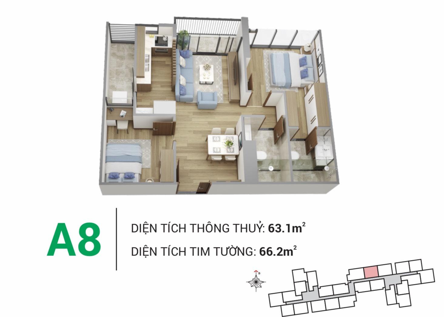 Thiết kế điển hình căn hộ Eco Green Saigon