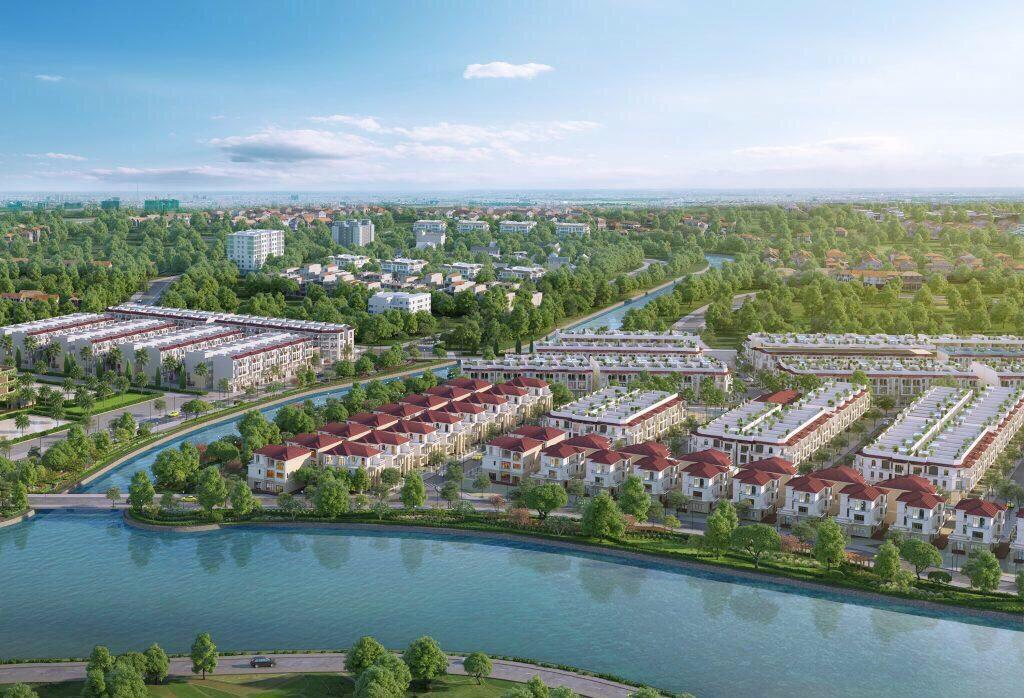 Tổng Thể Phối Cảnh Dự án nhà phố biệt thự Senturia Nam Sài Gòn CĐT Tiến Phước.