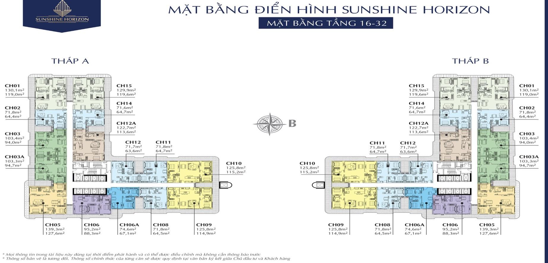 Mặt bằng điển hình Sunshine Horizon Quận 4