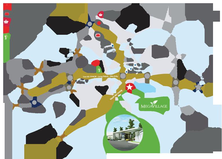 Vị trí nhà phố Mega Village Khang Điền Quận 9