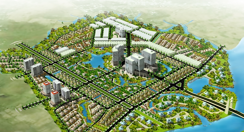 Tổng khu dự án The Green Village Khang Điền Bình Chánh