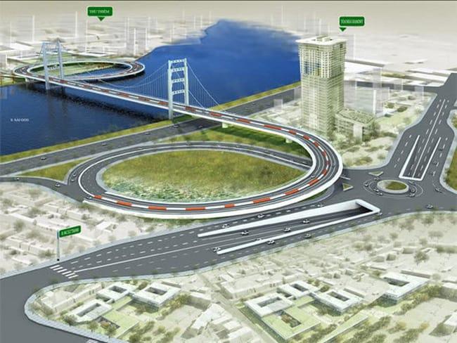 Quy hoạch thiết kế cầu Thủ Thiêm 3 nối quận 4 với quận 2.