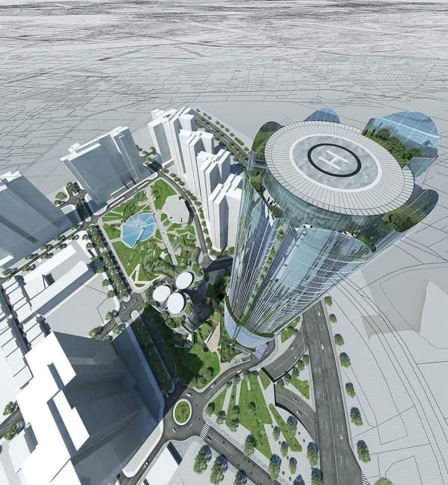Tòa khách sạn 69 tầng có sân đáp Trực Thăng trên sân thượng. Biểu tượng mới của quận 7 từ căn hộ Eco Green Saigon.