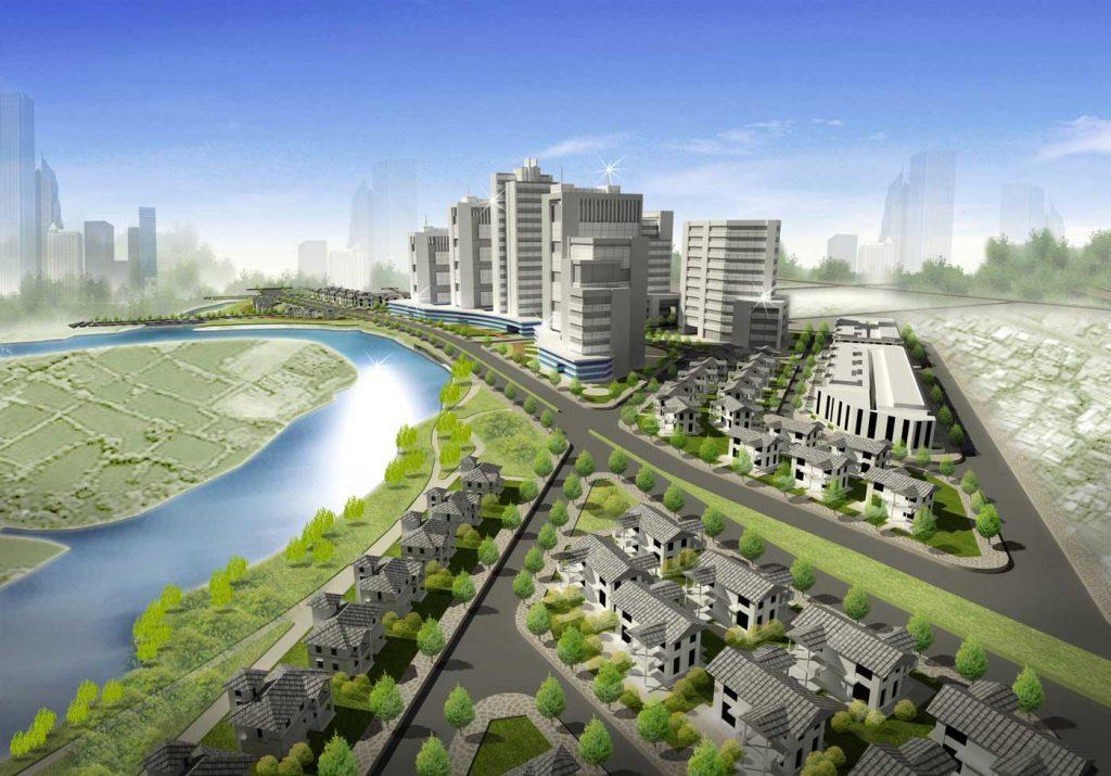 Mặt đứng phối cảnh dự án Corona City Khang Điền Bình Chánh