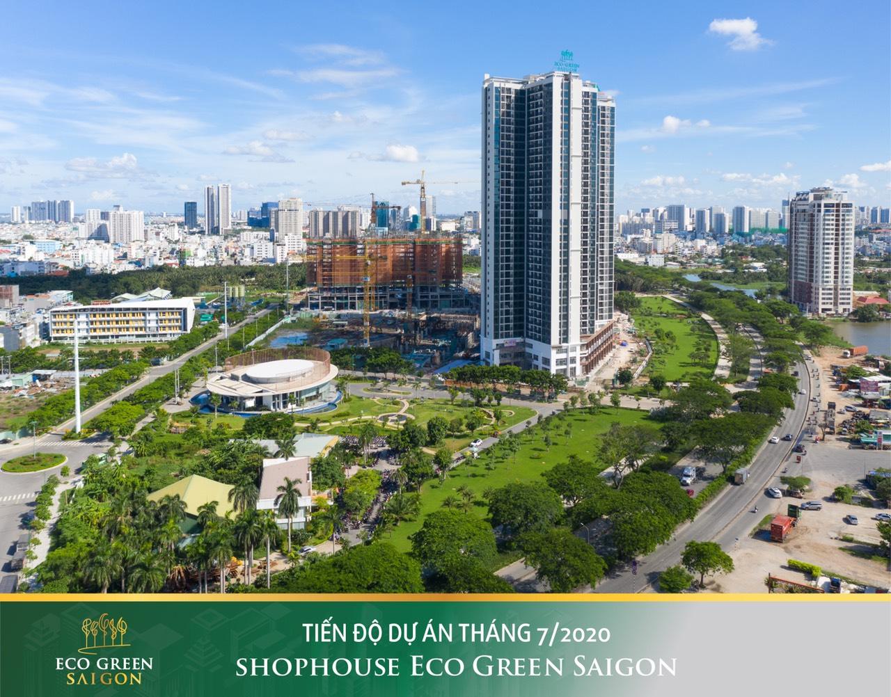 Tiến độ cập nhất mới nhất căn hộ Eco Green Saigon Quận 7.