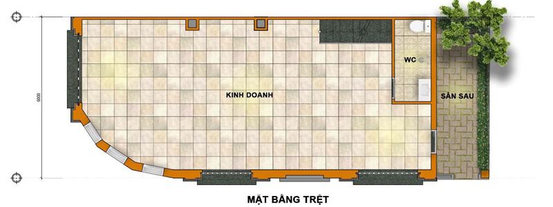 Thiết kế mẫu nhà dự án Nhà mặt tiền Trần Hưng Đạo Cần Đước Dự án đất nền J-Dragon kế bên dự án Riverside Market