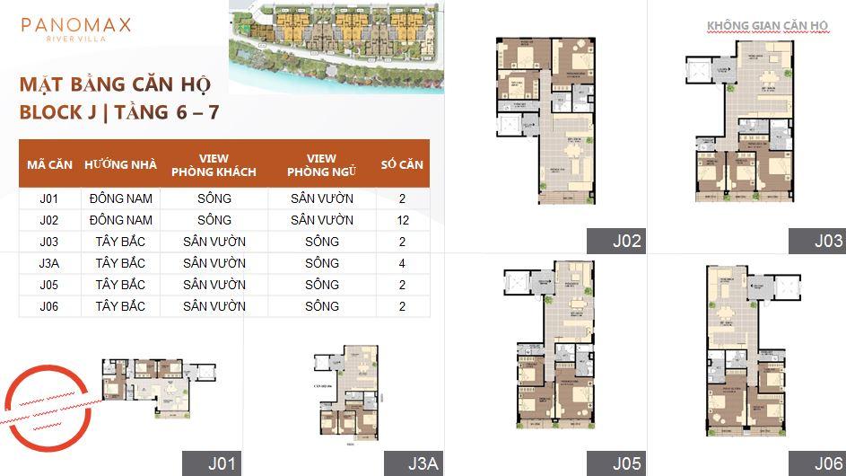 Thiết kế căn hộ tại tầng 6-7 dự án Panomax quận 7
