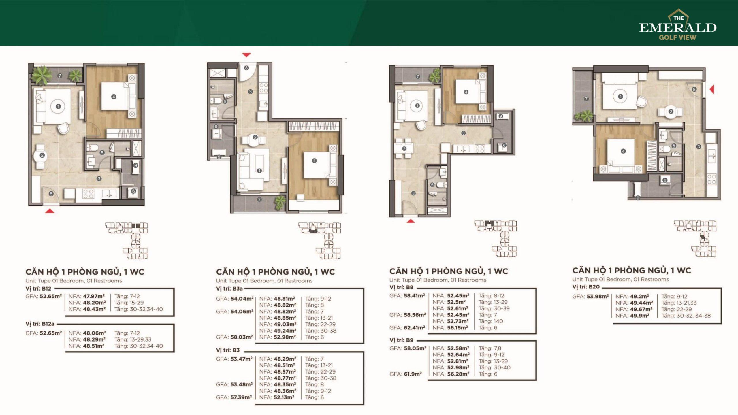 Thiết kế chi tiết tường mẫu căn hộ