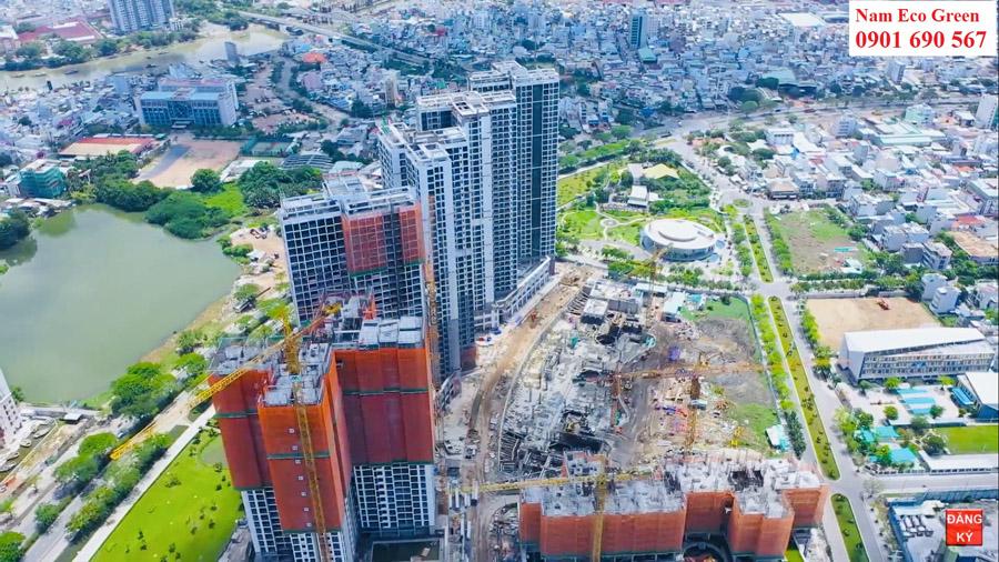 Tiến độ cập nhật tháng 6 năm 2020 căn hộ Eco Green Saigon.