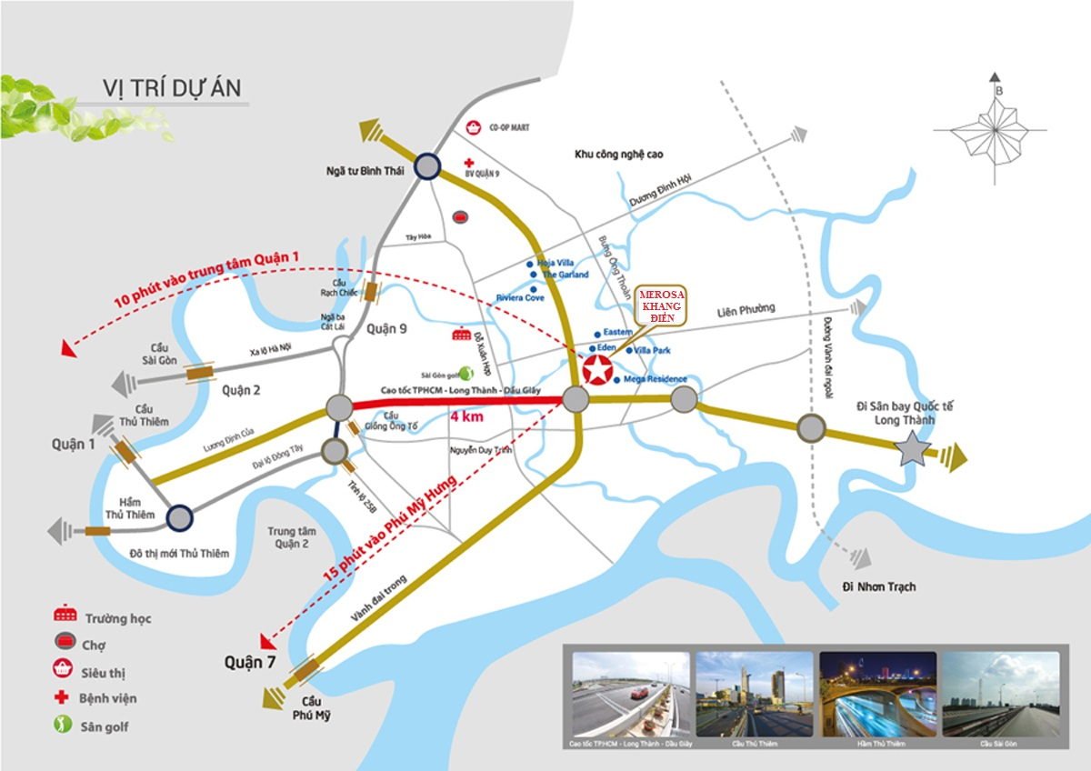 Vị trí dự án Merosa Khang Điền Quận 9.