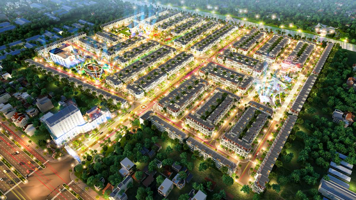 Phối cảnh tổng thể dự án đất nền nhà phố VietUc Verea Bến Lức Long An