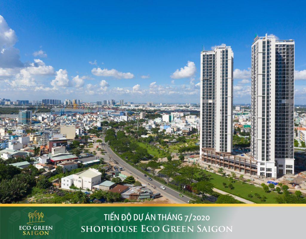 Tiến độ cập nhật tháng 7 dự án Eco Green Saigon