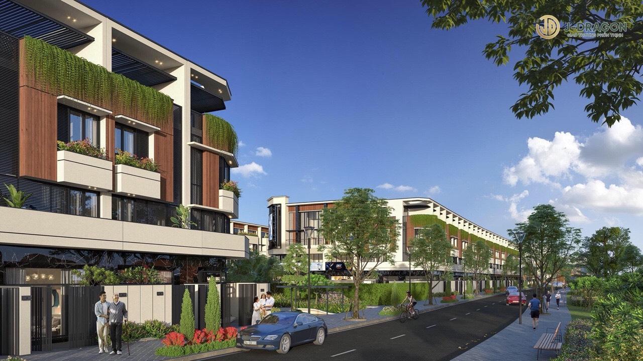 Đất nền, nhà mặt tiền Trần Hưng Đạo chợ Cần Đước. Dự án đất nền J-Dragon kế bên dự án Riverside Market.