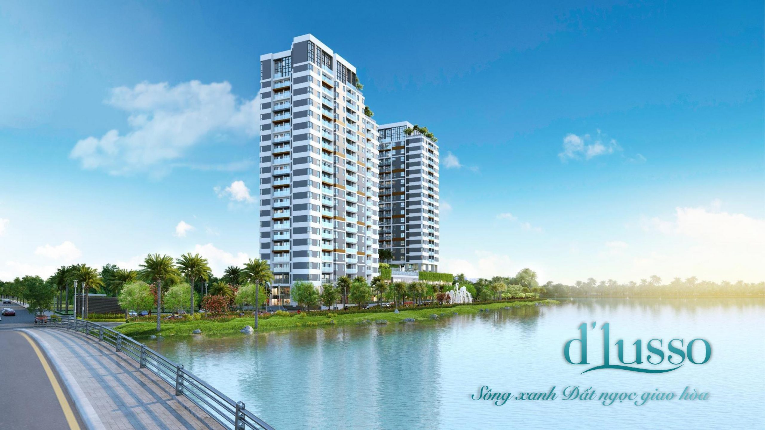 Phối cảnh tổng thể dự án căn hộ D Lusso Quận 2