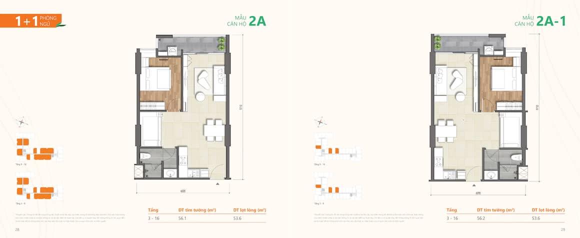 Thiết kế căn hộ 1 phong ngủ Phú Hữu Quận 9