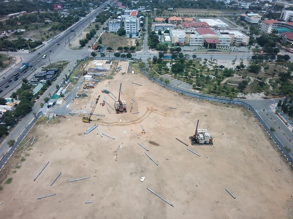 Tiến độ xây dựng căn hộ Westgate Bình Chánh. Đang thi công Móng Cọc