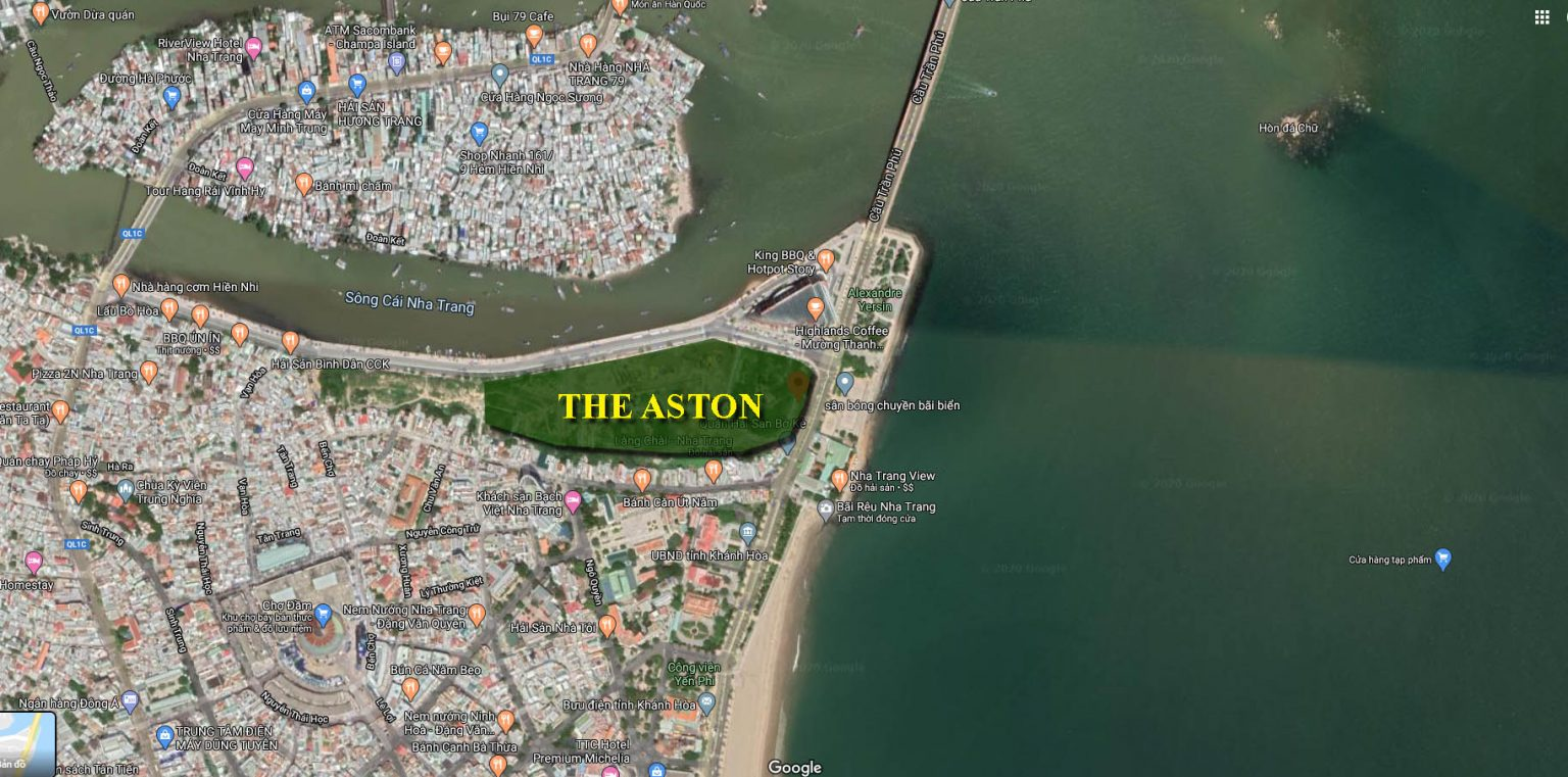 Vị trí chính xác căn hộ The Aston Nha Trang