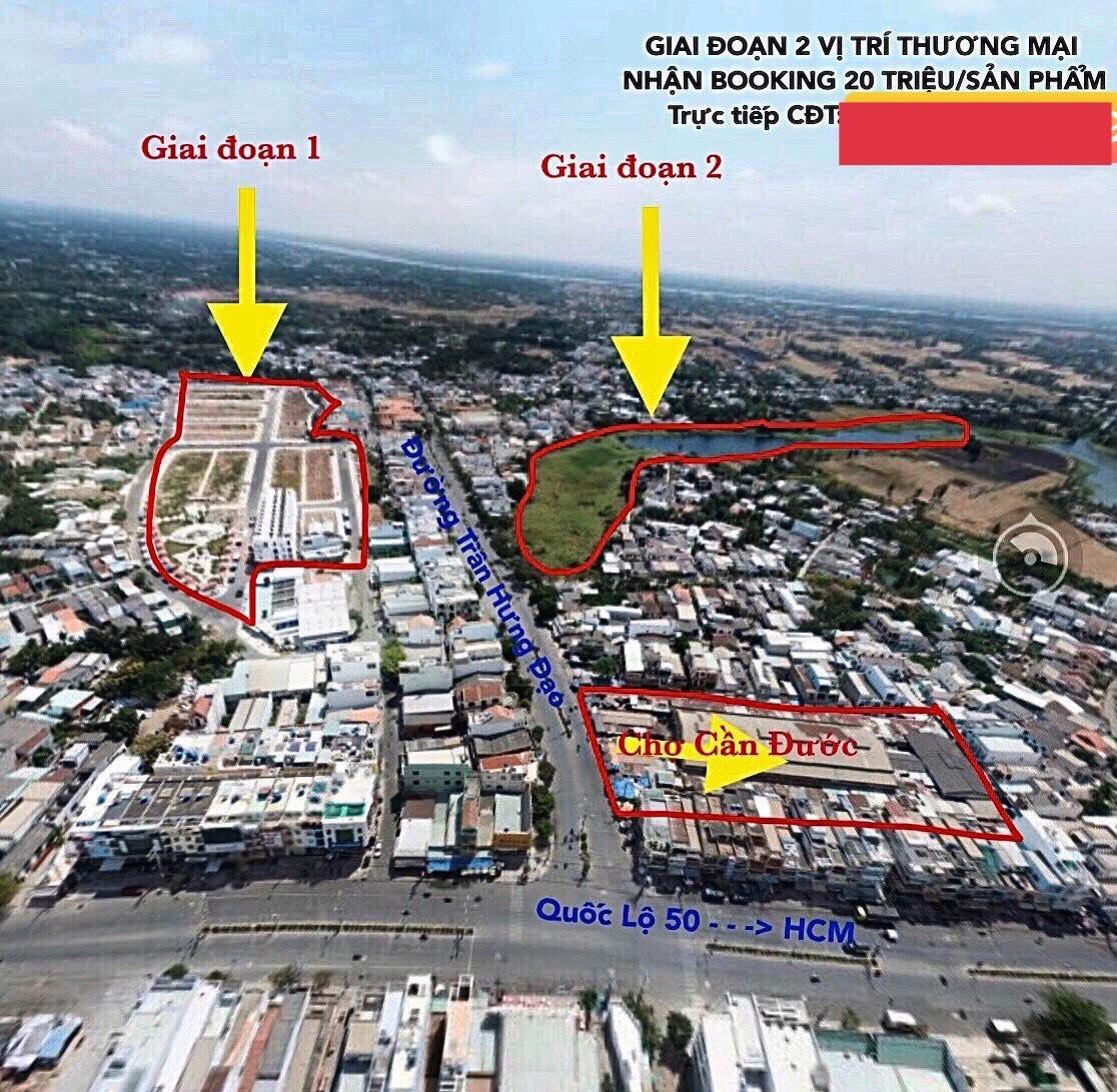 Vị trí chính xác dự án đất nền nhà phố J Dregon Thắng Lợi Cần Đước