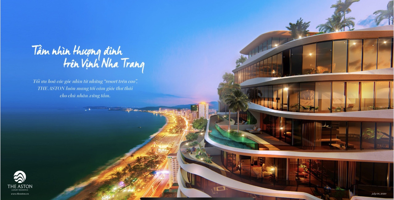 Góc view toàn cảnh bãi Biển Nha Trang tuyệt đẹp tại dự án The Aston