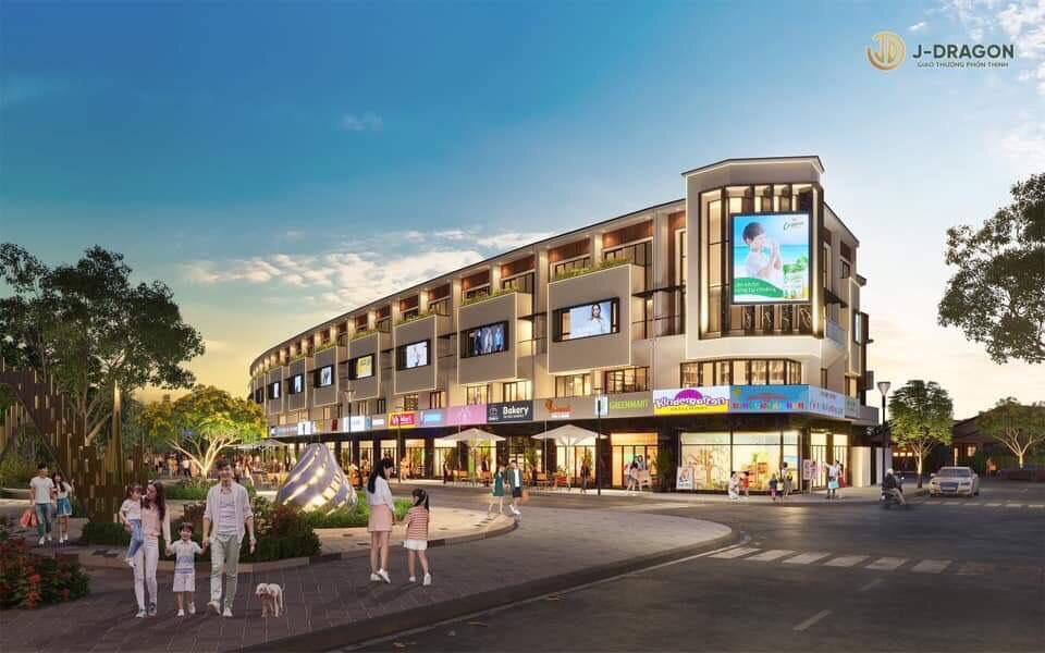 Mẫu Shophouse dự án J Dragon Cần Đước Long An