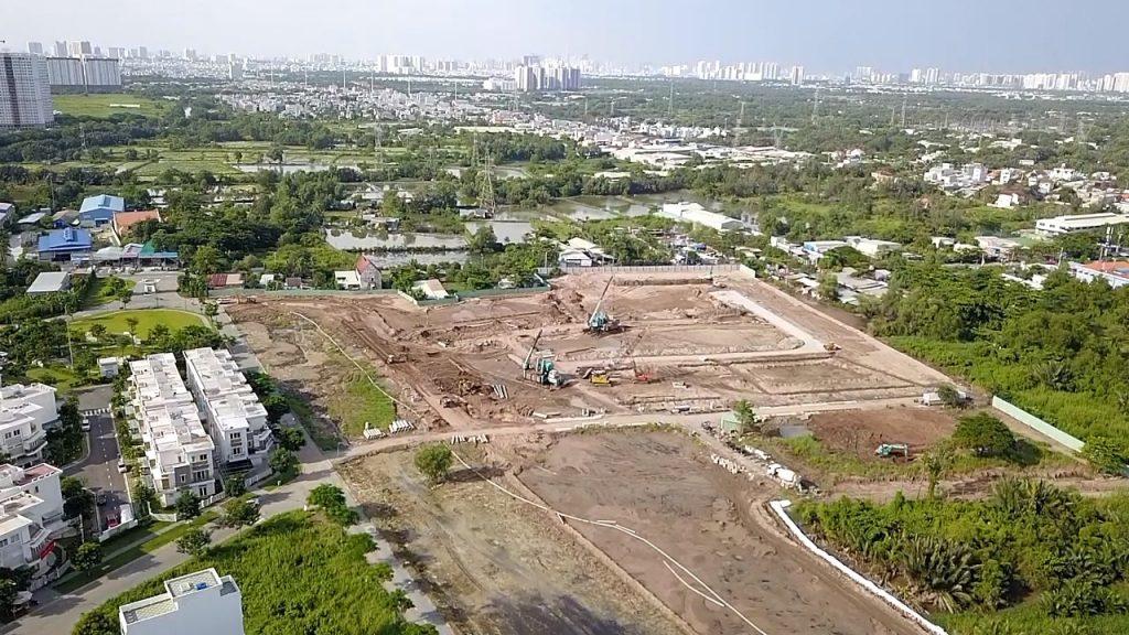 Tiến độ thi công giai đoạn 4 dự án nhà phố Lovera Park Bình Chánh