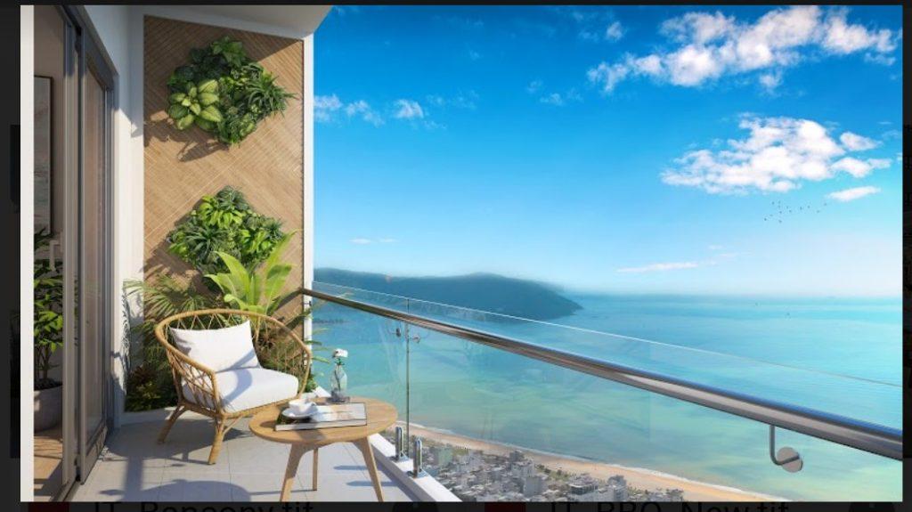 Ban công view biển căn hộ I-Tower Residences Quy Nhơn