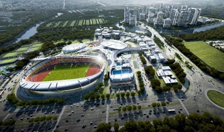 Dự án căn hộ Saigon Sports City Quận 2 sát bên khu trung tâm thể thao Rạch Chiếc.