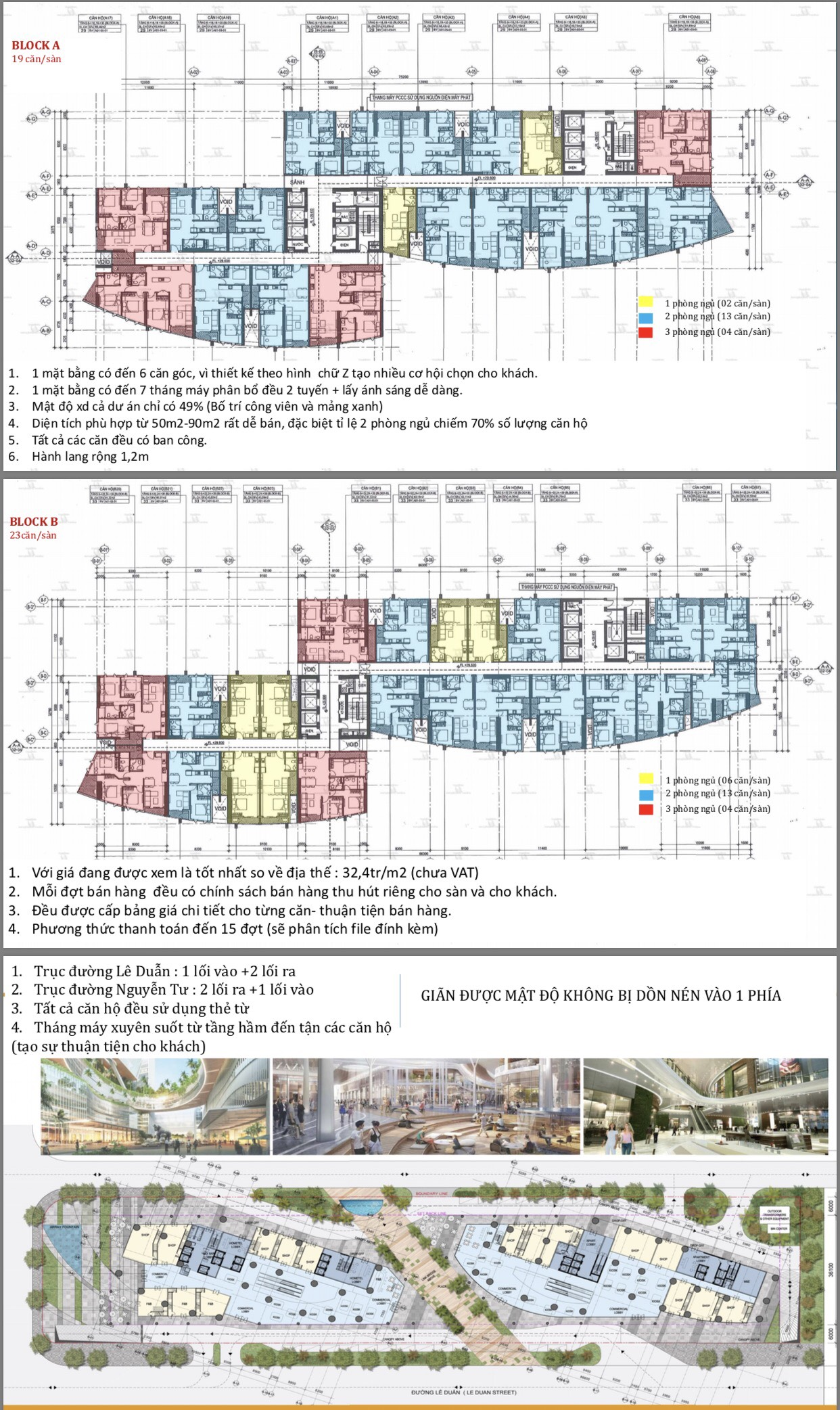 Mặt bằng căn hộ I-Tower Residences Quy Nhơn Bình Định