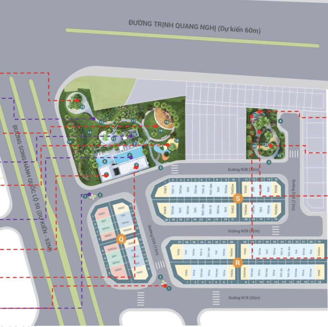 Mặt bằng dự án Nhà Phố Lovera Premier Khang Điền Bình Chánh Phong Phú 4
