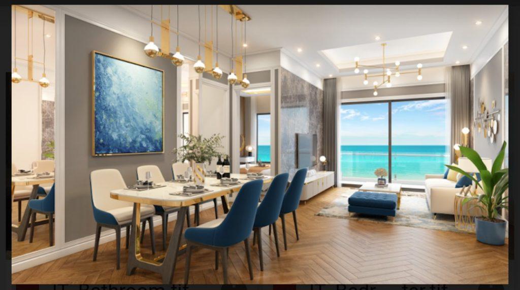 Phòng khách căn hộ I-Tower Residences Quy Nhơn