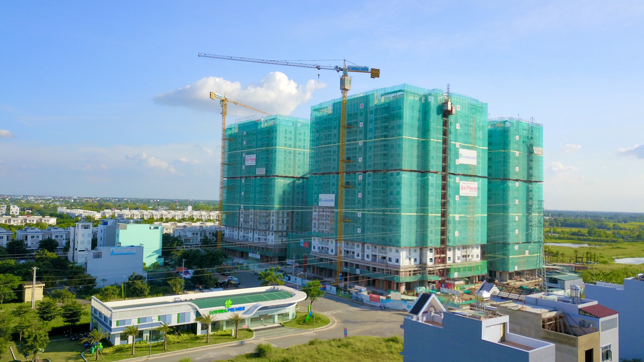 Tiến độ tháng 9 căn hộ lovera Vista Khang Điền Bình Chánh.