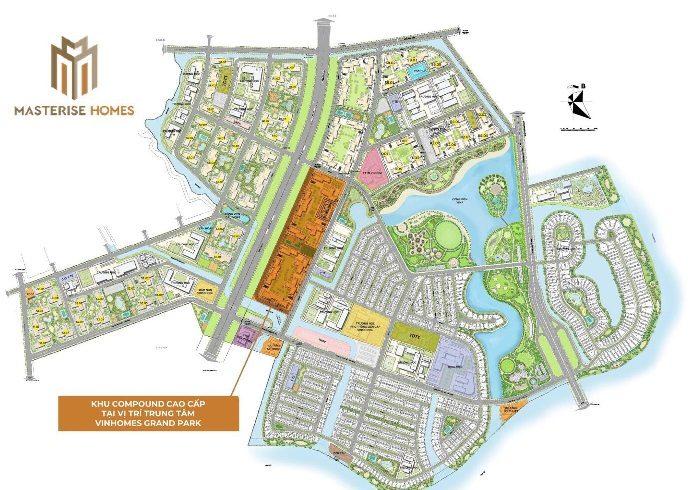 Vị trí dự án Masteri Centre Point trong tổng khu Vinhome Quận 9