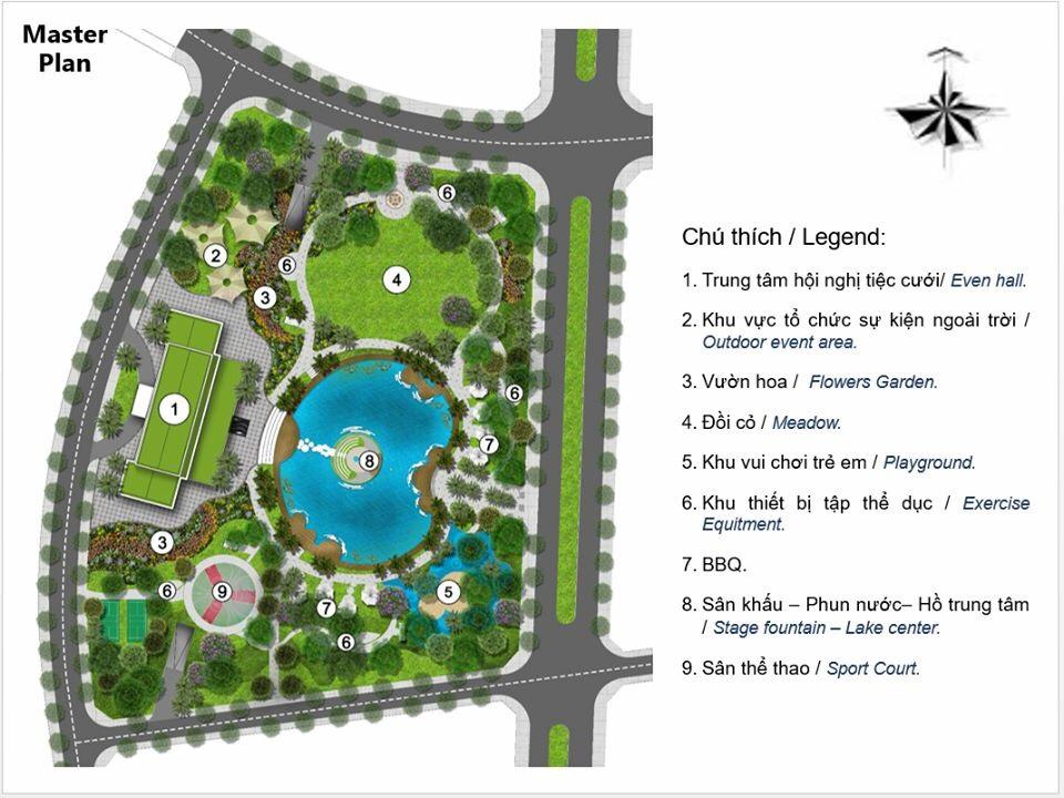 Tiện ích công viên Eco Park dự án Eco Green Quận 7
